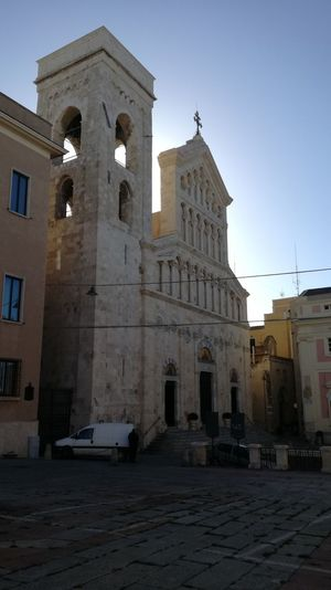Cagliari cathedral Sardinia Sardegna Italy  Today :) Church Old Ancient History Cross Tower Bell Architecture Business Finance And Industry History Religion Ancient Building Exterior City No People Cityscape Outdoors Day Sky Clock Clock Face Spirituality Built Structure
