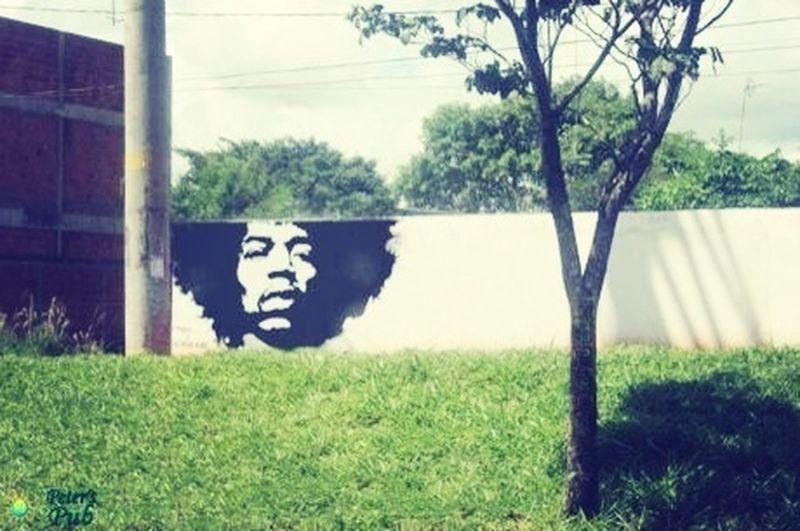 Jimi Hendrix Street Art