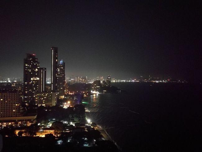 Night light at Pataya No People Cityscape Sea Night