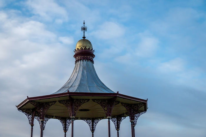 Architecture Bandstand Building Exterior Built Structure Cloud - Sky Day Dome Gold Colored Highland Nairn Outdoors Scotland Sky Structure Travel Travel Destinations