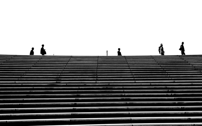 At the stairs... Hamburg Hamburg Harbour People Stairs Stairs & Shadows Leading Lines Graphical Horizontal Symmetry Lines Blackandwhite Blackandwhite Photography Minimalism Minimalobsession Pivotal Ideas Monochrome Photography The Architect
