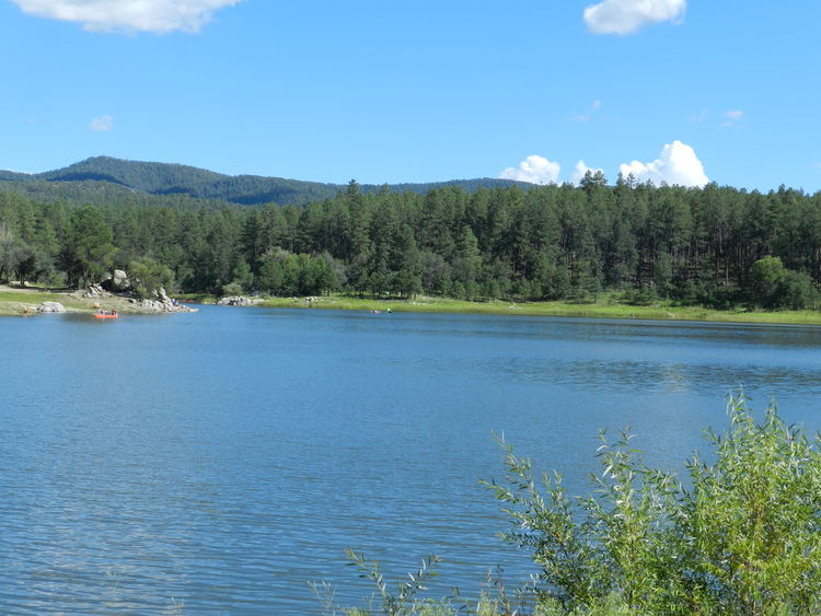Perfect Day Beauty In Nature Blue Calm Cloud Day Forest Green Color Growth Idyllic Lake Landscape Mountain Nature No People Outdoors Plant Prescott Prescott, AZ Rippled Scenics Sky Tranquil Scene Tranquility Tree Water