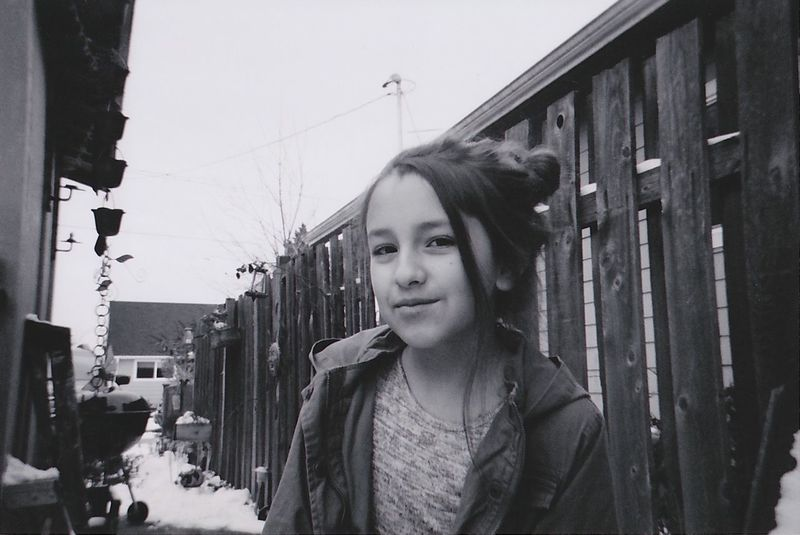 Mi Hermana, Portland 2016 Ilford Portrait Latina Portland, OR Black And White Monochrome Photography Young Woman Looking At Camera One Person