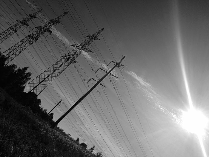 Power Lines Bw_collection Sun_collection