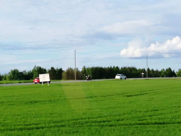 Commercial Land Vehicle Farm Semi-truck Agriculture Land Vehicle Transportation Mode Of Transport Pick-up Truck Cloud - Sky Freight Transportation Trucking No People Grass Industry Rural Scene Outdoors Tree Sky Day Field Tamperelove Tampereparaspaikka Finland♥ Finland_photolovers Finland :)