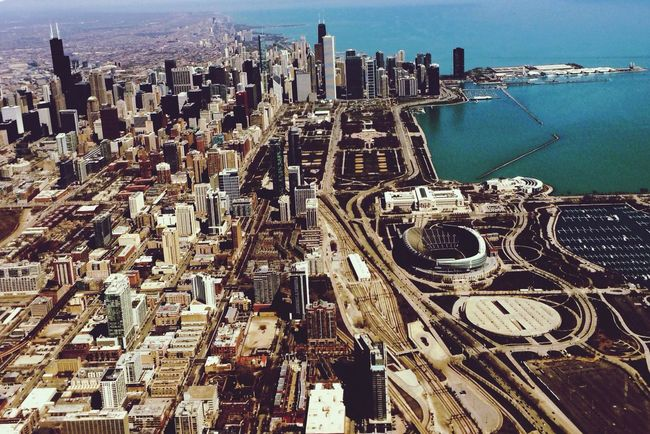 Chicago Architecture city Cityscape Skyscraper City Life Urban Skyline No People Chicago skyline Aerialview airplane view Chicago Architecture Chicago aerial view Soldier Field Outdoors urban City Development Day First Eyeem Photo