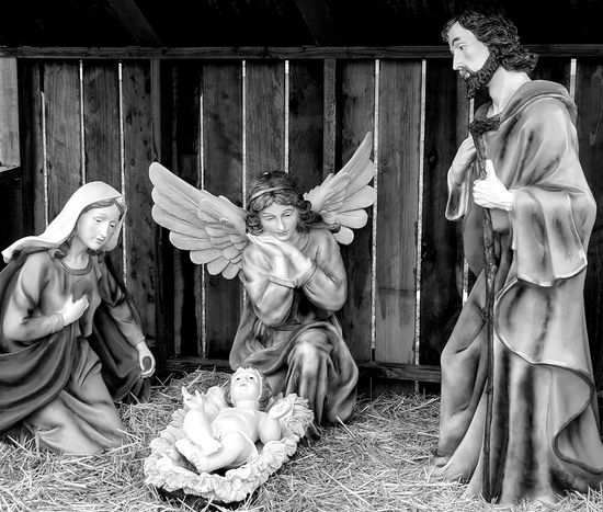 the reason we celebrate christmas in bnw Nativity Scene Blessed Mother Baby Jesus St Joseph Happy Birthday Jesus MerryChristmas Mobile Photography Outdoor Photography Taking Photos Eyem Gallery Merry Christmas ♡ Bnw Bnwphotography Black And White Photography Religious Icons EyeEm Gallery Blessed  Virgin Mary Angel Peace On Earth