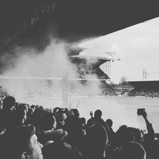 The dream continues... Leicester BarclaysPremierLeague Football Day Built Structure Stadium Blackandwhite Smoke This Is Masculinity