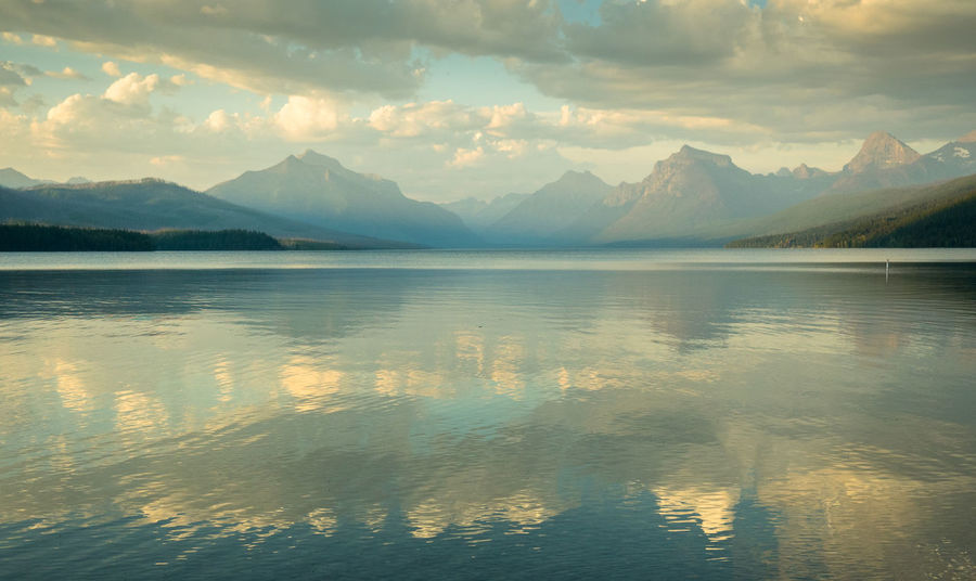 Peaceful Evening Beauty In Nature Cloud - Sky Day Idyllic Lake Mountain Mountain Range Nature No People Non-urban Scene Outdoors Reflection Remote Scenics - Nature Sky Tranquil Scene Tranquility Water Waterfront