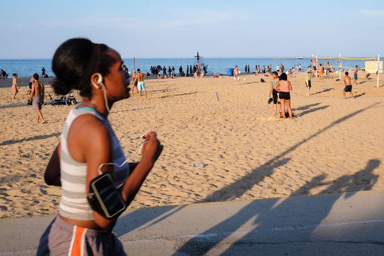 Beach Chicago FUJIFILM X-T1 Fun Jogging Lake Michigan Sand Sea Streetphotography Weekend Activities