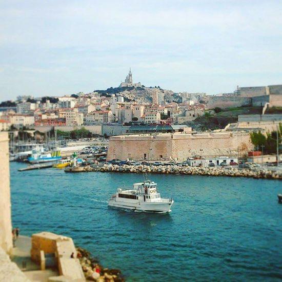 Battle Of The Cities Marseille Mucem Vieux-Port Notre Dame De La Garde Bonne Mere Méditerranée France🇫🇷 France Mer Boat Sea First Eyeem Photo