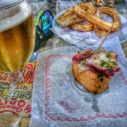 Uçağı kaçırıp canya & montadito yemek için muhteşem bir gün😂🎉😍 Canya Montadito Xocolota Xurros