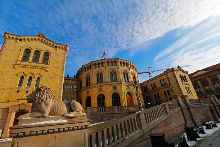 Parlament Karl Johans Gate Norge Norway Norwegen Oslo Parliament Building Visit Norway Architecture Architektur Canonphotography Canonphotopgraphy Eye4photograghy Eye4photography  No People Outdoors Parlament Parliament Parliament House Sculpture Sky Statue Visit Oslo