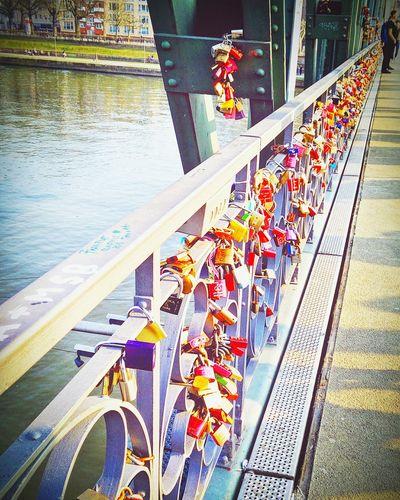 Photography In Motion Center Focus Frankfurt Love Locks Bridge