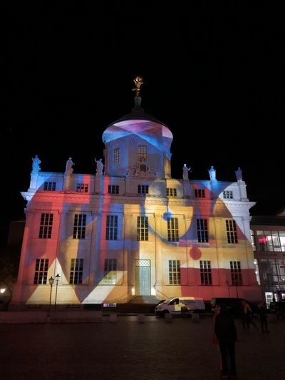 Alter Markt, Potsdam, Germany Potsdamer Lichtspektakel Alter Markt IPhone X Photography Altes Rathaus IPhone X Potsdam Building Exterior Night Architecture Built Structure Illuminated Sky City Travel Destinations Building No People Dome Nature Clear Sky Travel Tourism History Outdoors Arts Culture And Entertainment The Past Nightlife Alter Markt, Potsdam, Germany Façade Architecture