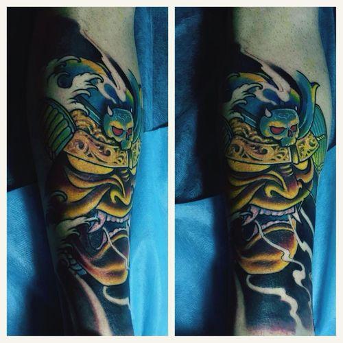 Tattooed New Tattoo Nopainnogain Japanese  Dubai❤ Firstsession Check This Out Taking Photos Enjoying Life