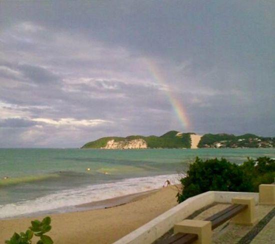 Rainbow at Morro do Careca Water Sky Rainbow Cloud - Sky Beauty In Nature Sea This Is Latin America Scenics - Nature Tranquil Scene Nature No People Beach Tranquility Idyllic