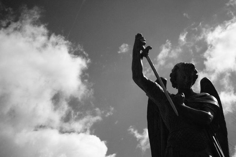 Cloud - Sky Sky Japan Photography Black And White Photography EyeEm Best Shots - Black + White Black And White Collection  Epson R-D1 Black & White Black And White Collection  Church St. Michaels Church St. Michael Statue Angel