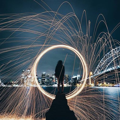 'every accomplishment starts with the decision to try' // so many incredible shots from the Sydneynightsquad instameet! a massive thank you again to everyone for coming, i had such a blast meeting all of you and shooting long exposures with cool props! - Whpfilltheframe