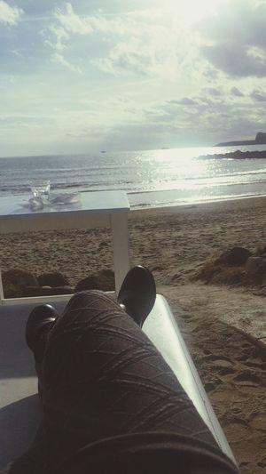 Relaxandooo😁🎼🎤🔝 Sea Nature Beach Libertá Hello World Italia Io Felicità Bellezza Horizon Over Water One Person Grandebellezza First Eyeem Photo Naples Napoliphotoproject Drinks