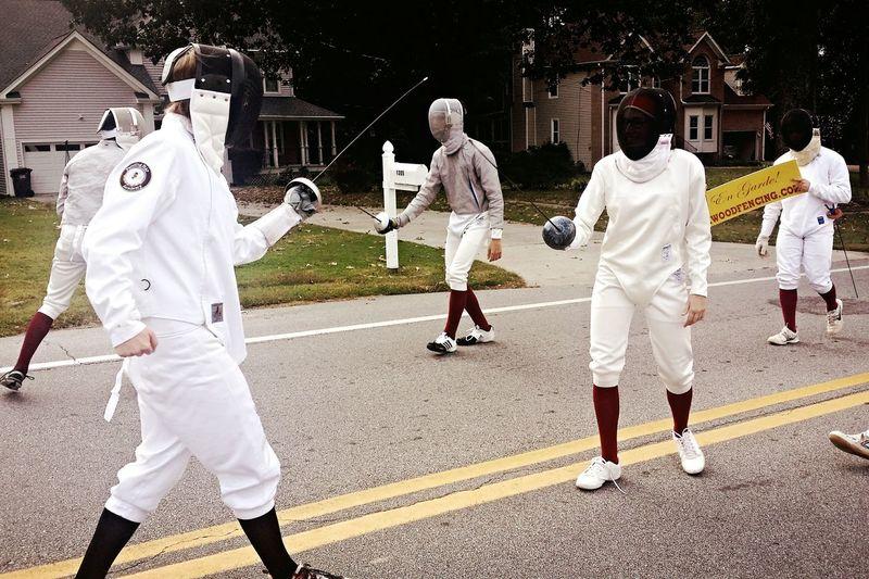 Fencing En Guard Parade Homecoming HighSchoolClub Southernlife
