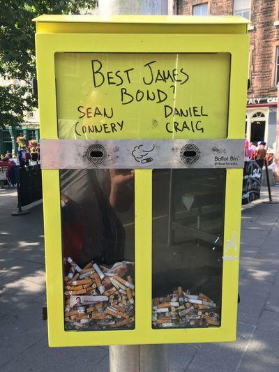Best James Bond? Cigarette  Funny Idea Rubbish Clean Streets Smoking