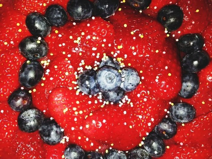 Fruit Red Close-up Sweet Food Strawberries Fraises Myrtilles