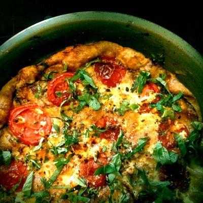 leftover frittata Thx4cooking  Organic Vegetarian Food Yummy