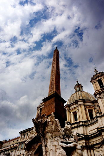 NEX-5T Rome Architecture Building Exterior Built Structure Cloud - Sky Day History Italy Low Angle View No People Outdoors Place Of Worship Religion Sculpture Sky Sony Spirituality Statue Travel Destinations