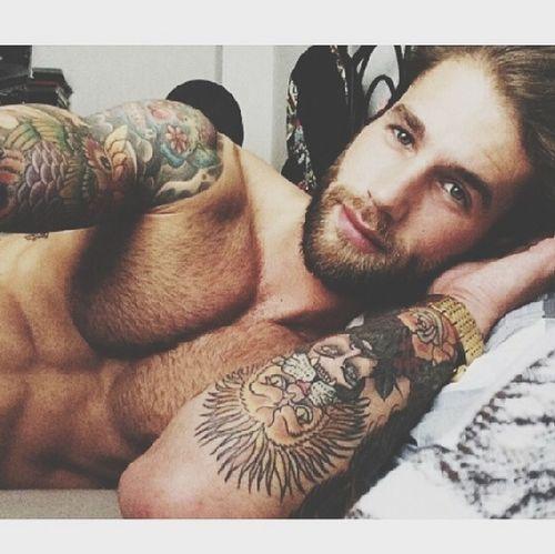 Good night all beautiful people :) Tattoo Man With Tattoo