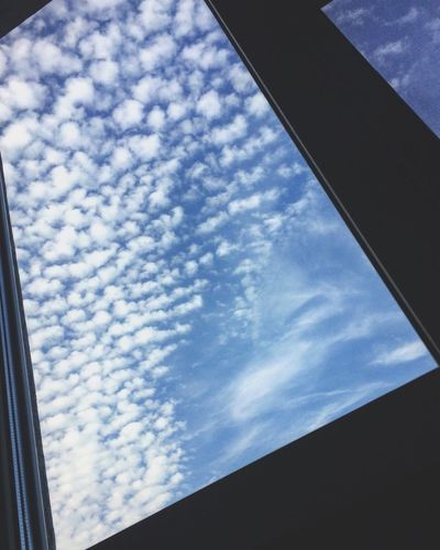 Window Sky Cloud - Sky Low Angle View Day No People Built Structure Architecture Indoors  Nature Close-up