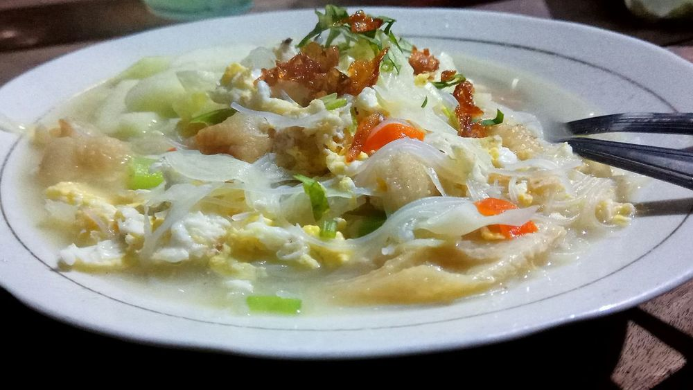 """This called """"Bakmi Djowo"""" Bakmi Bakmi Djowo Traditional Food Of Indonesia Food And Drink Plate Serving Size No People Chinese Food"""