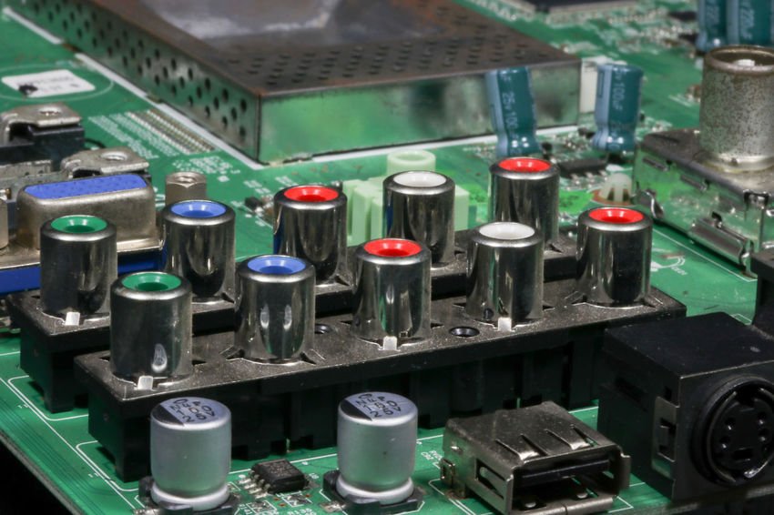 Electronic Mother Board Motherboard. Motherboards USB USB Connection Circuit Board Circuit Boards Close-up Complexity Computer Chip Computer Equipment Computer Part Connection Control Panel Electronic Equipment Electronics Industry Factory Industry Motherboard Mother Boards Motherboard Technology Usb Port Video