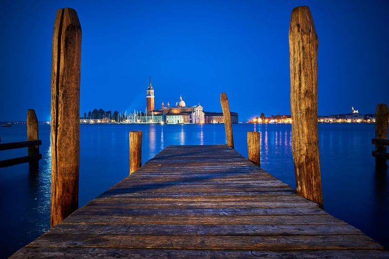 Basilica di San Giorgio Maggiore, Venice in morning blue hour. Taken from just off St Marks Square. Venice Italy Venice Venezia Italy St Marks Square San Marco Piazza San Marco San Giorgio Maggiore Churches Canals And Waterways First Eyeem Photo