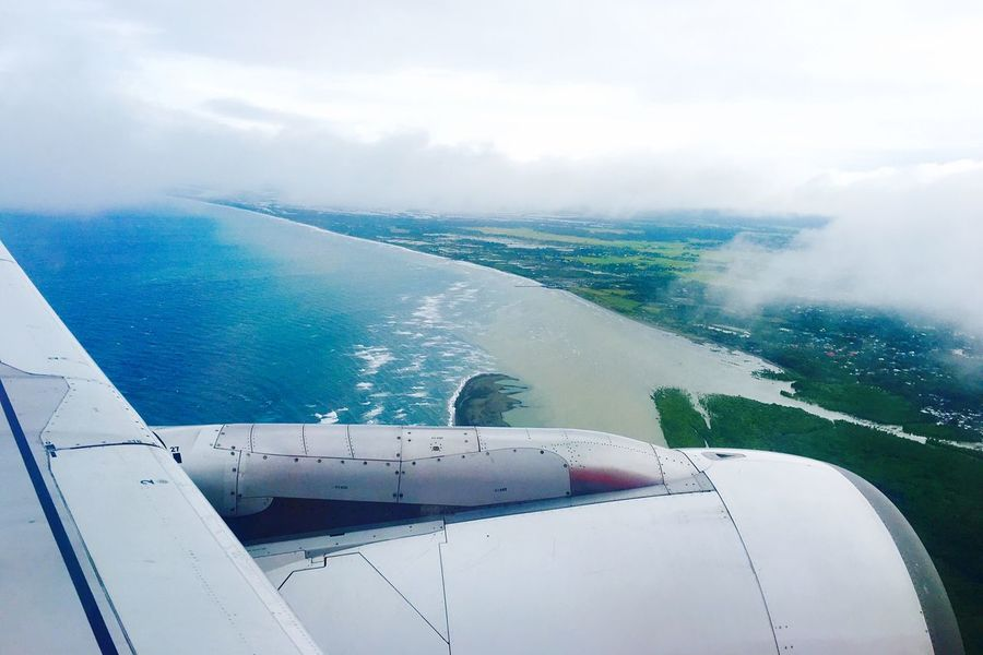 On the wings literally. Plane Sky Landscape Scenery Green Nature Nature Photography Trees Aklan Clouds Clouds And Sky Aerial Shot Aerial View