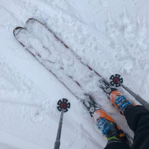 Ski Winter Wonderland Tourenski Tourengehen Snow Winter Cold Temperature Human Body Part Body Part High Angle View One Person