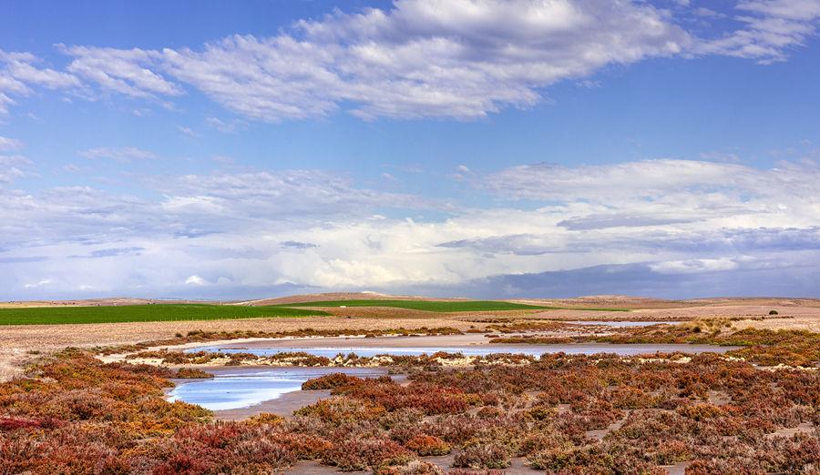 Cloud - Sky Sky Lagoon Water Land Landscape Field No People Lake