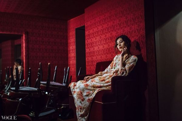 In the red room Vogueitalia Red Fashion Photography