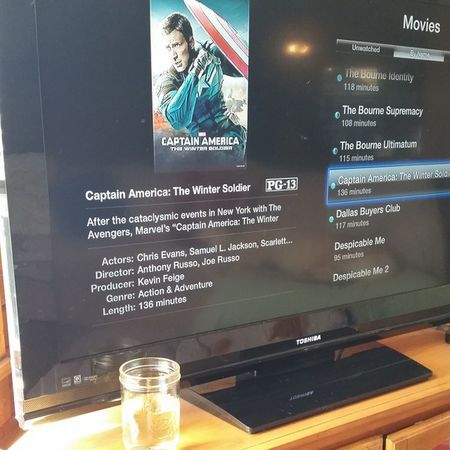 Do not disturb for the next 2 hours and 16 minutes. And lest you think I'm uncivilized, that is Dreaming Tree Chardonnay in the Mason jar. WinterSoldier Iloveappletv Donotdisturb Nerdgirlproblems