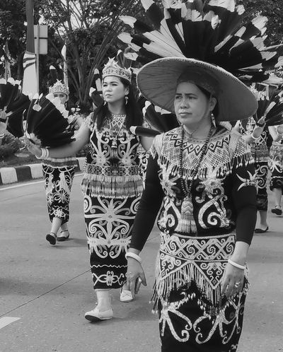 Parade Street Photography Arts Culture And Entertainment Dayaknese Monochrome Blackandwhite People Close-up Outdoors EyeEm Selects Woman Dancer Real People Photography Indonesia Traditional Indonesia Culture EyeEmNewHere Black And White Friday Be. Ready.