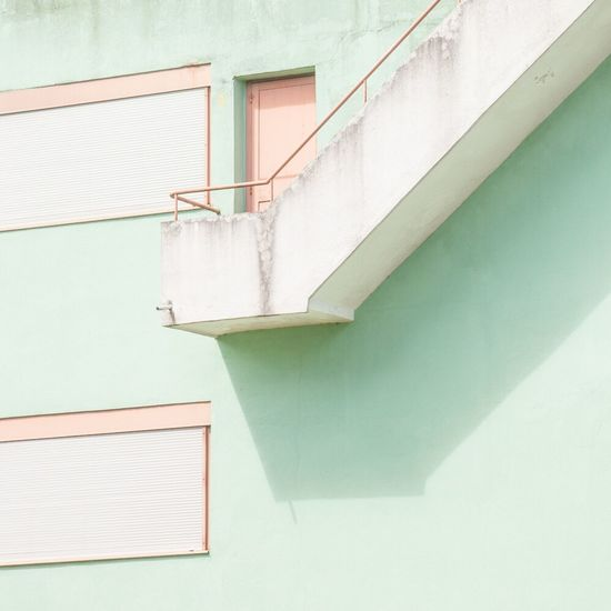 Built Structure Architecture Building Exterior No People Steps And Staircases Day Outdoors Geometric Shape Minimalism Photography Fine Art Photography Contemporary Art Pastel Power City