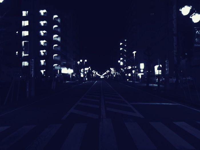昼のうちに夜のこと少し気にしてあげよう。 Goodnight EyeEm Midnight Nightphotography No Standard World Illuminated Night Architecture Built Structure Building Exterior City The Way Forward