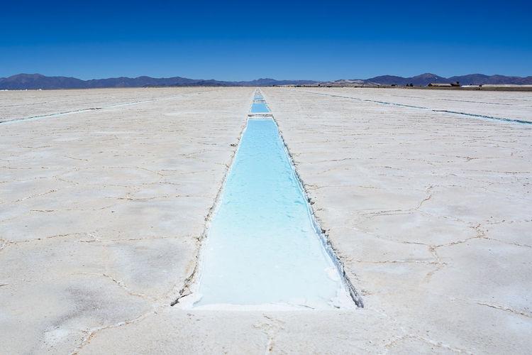 Landscape of salt pan