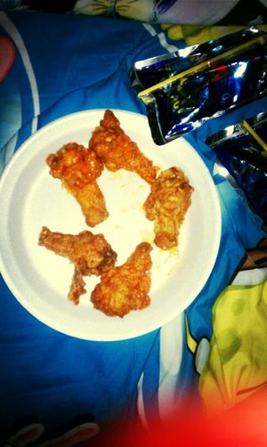 It's 4:20am And I'm Eating Some Hot Wings #Shrug
