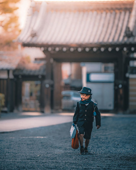 School life Children Japan Japan Photography The Street Photographer - 2018 EyeEm Awards Clothing Day Focus On Foreground Leisure Activity One Person Outdoors Real People School School Life  Street Street Photography Streetphotography Uniform Week On Eyeem Capture Tomorrow