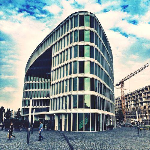 Frankfurt westhafen Architektur office Working Meeting Checking In Taking Photos