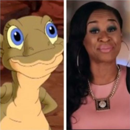 At least she's pretty tho...can't say that about some of these cartoon character look-a-likes. DJTraciSteele TraciSteele LoveAndHipHopAtlanta LAHHATL Ducky TheLandBeforeTime