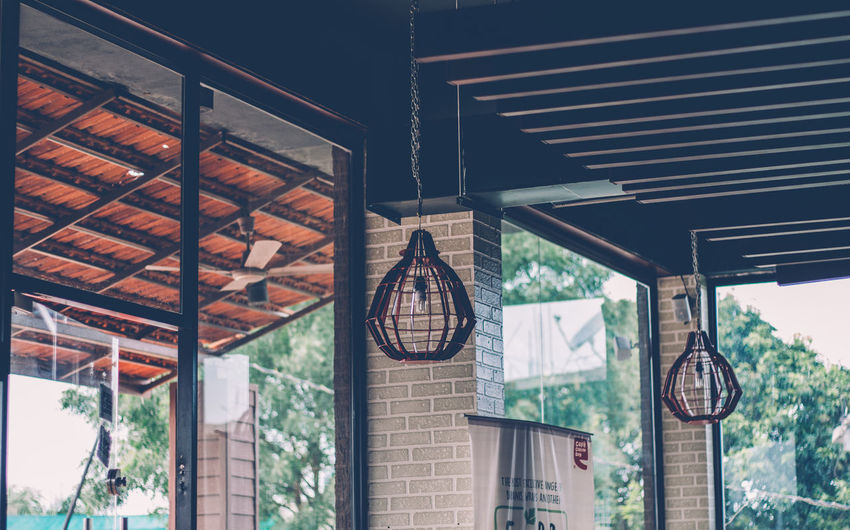Low angle view of hanging ceiling