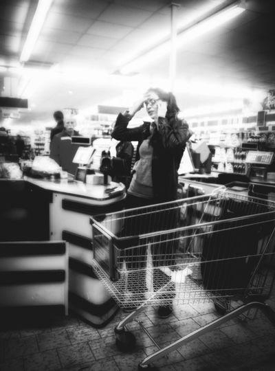 Shooting Strangers Black & White Stressed Out... Shopping