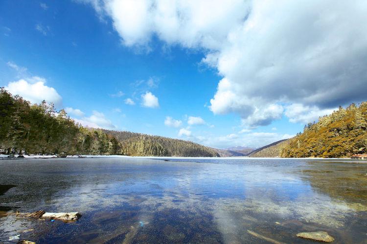 Bita Lake Beauty In Nature Bita Lake Bita śmietana Calm Cloud Cloud - Sky Cloudy Idyllic Lake Landscape Majestic Outdoors Remote Scenics Sky Tranquil Scene Tranquility Vacation Water